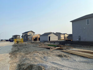 July 2021: New homes under construction